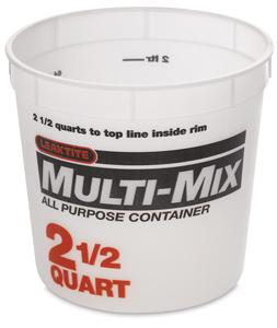 Plastic Tub, 2½ Quart