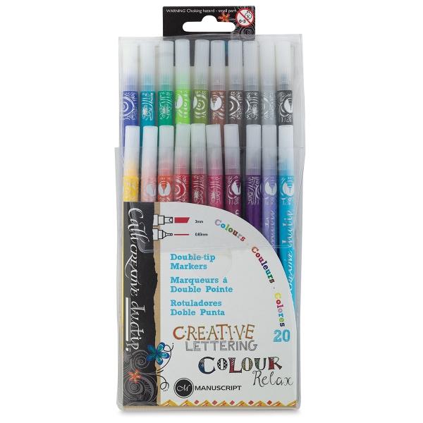 Callicreative Duotip Markers, Set of 20
