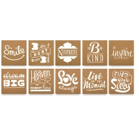 Design Memory Craft Stencils 303 Collection, Set of 10
