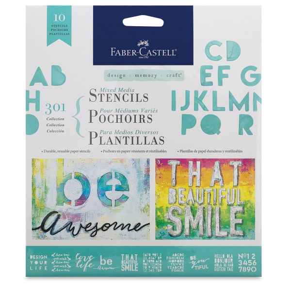 Design Memory Craft Stencils 301 Collection, Set of 10