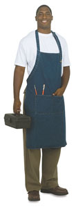 Heavy Washed Denim Apron