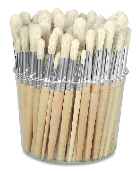 Tub of 144 Brushes, Round