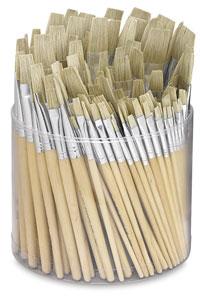 Tub of 144 Brushes, Flat