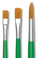 Blick Economy Golden Taklon Brushes