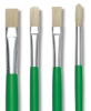 Blick Economy White Bristle Brushes and Sets