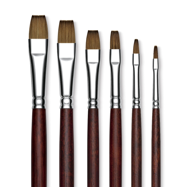 Siberian Kolinsky Sable Bright Brushes