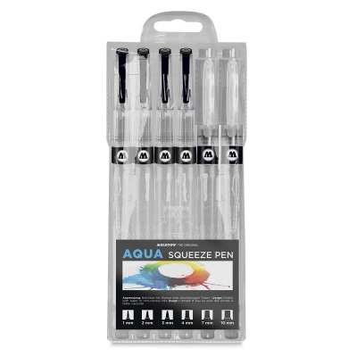 Aqua Squeeze Pens, Set of 6