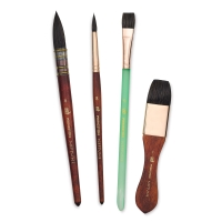 Neptune Synthetic Squirrel Brushes, Box Set of 4