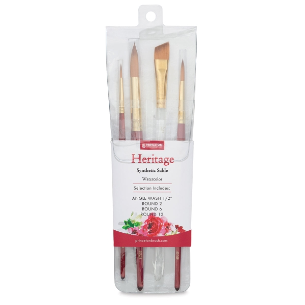 <strong>Blick Exclusive!</strong> Heritage Synthetic Sable Brushes, Set of 4