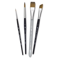 Elite Synthetic Sable Brushes, Set of 4