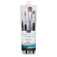 Aqua Elite Synthetic Sable Brushes, Set of 4
