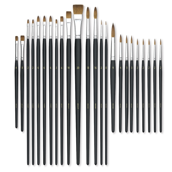 Assorted Sable Brushes, Set of 24</br>(Set contents will vary)