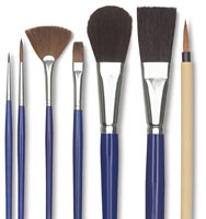 Blick Ceramic Glaze Detail Brush Set