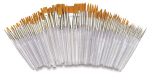 Golden Taklon, Assorted, Short Handle, Set of 144