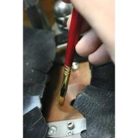 Blick Master Kolinsky Sable Long Handle Brush (Shown in use)