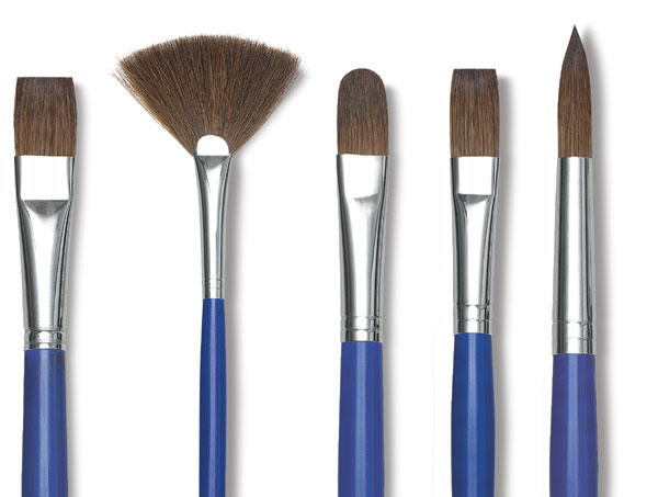 Scholastic Red Sable Brushes