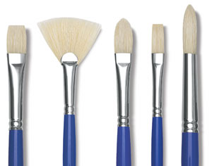 Scholastic White Bristle Brushes