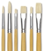 White Bristle Set of 6, Large