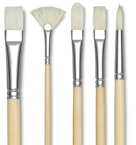 Wooden chubby paint brush for