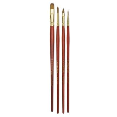 Blick Master Kolinsky Brushes, Set of 4 Brushes
