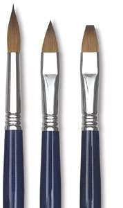 Kolinsky Sable Oil Brushes