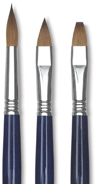 Kolinsky Sable Oil Brushes
