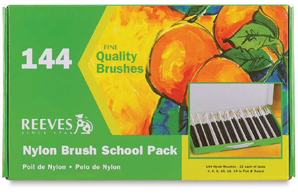 Nylon School Brushes, Pkg of 144