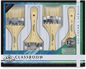 Bristle Large Area Brushes, Set of 12