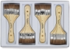 Natural Large Area Brushes, Set of 12