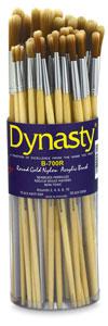 Bright Gold Nylon Acrylic Round Brushes, Canister Set of 50