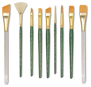 Series 4350 Lauren Synthetic Golden Taklon Brushes