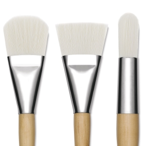 Bright White Nylon Brushes