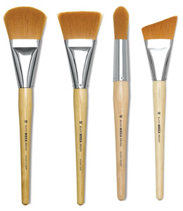 Filbert, Flat, Round, and Angular Brushes