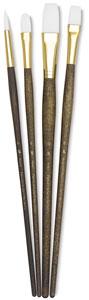 White Taklon Brushes, Set of 4 (#9147)