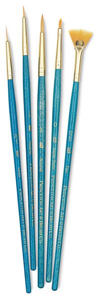 Golden Taklon Brushes, Set of 5 (#9170)