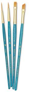 Golden Taklon Brushes, Set of 4 (#9173)