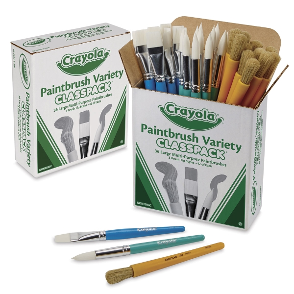 Large Paintbrush Variety Classpack, Set of 36