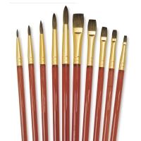 Round/Flat Brushes, Set of 30