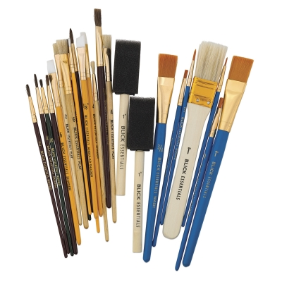 Craft Brushes, Assorted, Set of 25