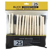 """Foam Brushes, Size 1"""", Set of 25"""
