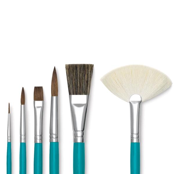 Ceramic Classroom Brush Assortment, Set of 72