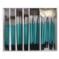 Ceramic Classroom Brush Assortment, Set of 72