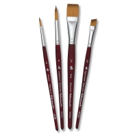 Velvetouch Synthetic Brushes, Set of 4