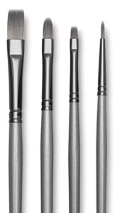 Titanium Pack Q, Set of 4 Brushes