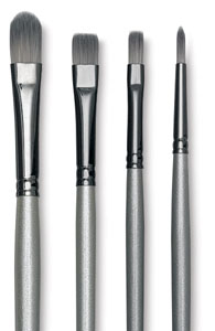 Robert Simmons Titanium Brush - Filbert, Size 6