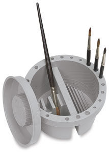 Round Brush Tub (Brushes not included)