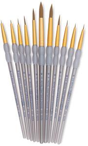 Taklon Round Brushes, Set of 11