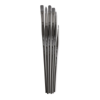 Synthetic Oil Brushes, Set of 6