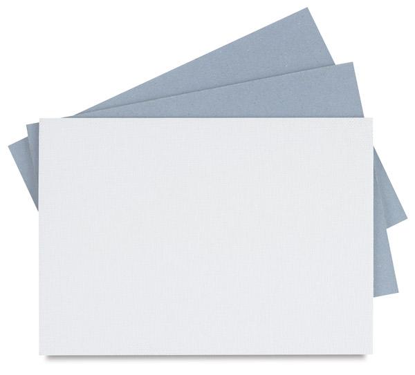 Cut Edge Canvas Panels, White