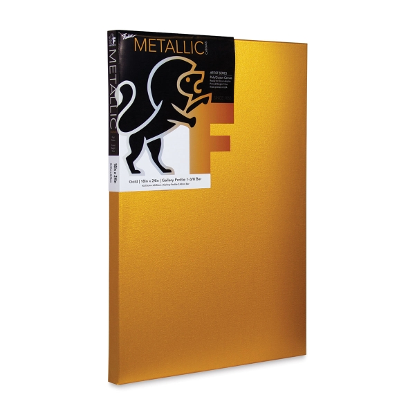 Metallic Stretched Canvas, Gold
